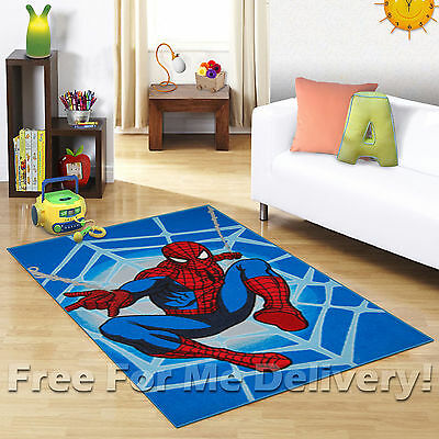 KIDS EXPRESS SUPERHERO SPIDERMAN BLUE FLOOR RUG (XS) 100x150cm *FREE DELIVERY*