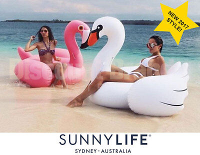 New Sunnylife Super Size Giant Pool Inflatable Select Luxe Swan Or Flamingo