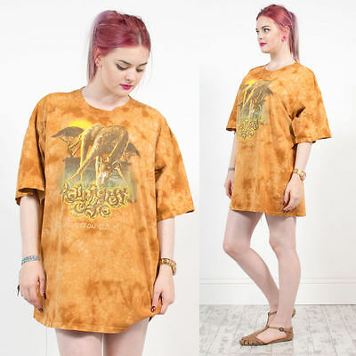 Womens Unisex Retro Rainforest Cafe Tie Dye Animal Print Oversize T-Shirt 20 22