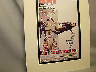Elvis Presley in Easy Come Easy Go Ticket Booth Window Movie Card Illustrated