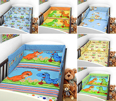 Baby Bedding Set PILLOWCASE + DUVET COVER  2 PCS to Fit Cot Cotbed NEW DESIGNS