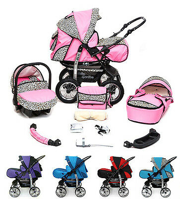 Baby Pram Buggy Pushchair Stroller Camel Reversible Handle Carrycot air wheels