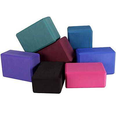 Yoga Block Pilates Foam Foaming Brick Stretch Health Fitness Exercise Gym UK