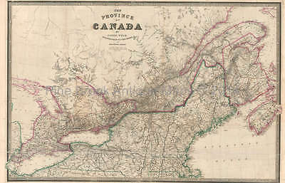 Province Of Canada Antique Map Wyld 1845 Original