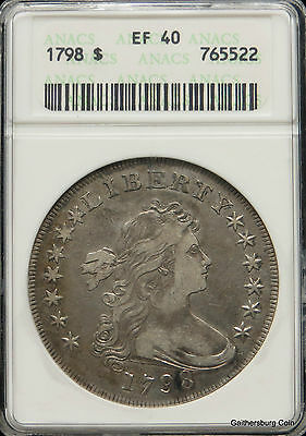 1798 Bust Silver Dollar ANACS Certified EF 40