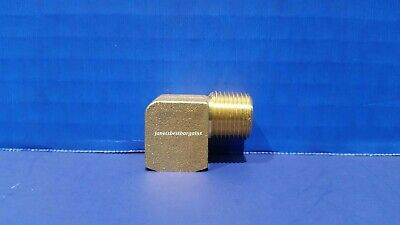 Solid Brass Street Pipe 90 Degree Elbow 3/8 Inch Male Female NPT Air Fuel Water