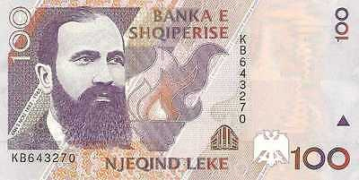 6 Banknotes from Albania, Europe 1, 3, 5 (conseq. #) 10, 100 Leke UNC BEAUTIFUL