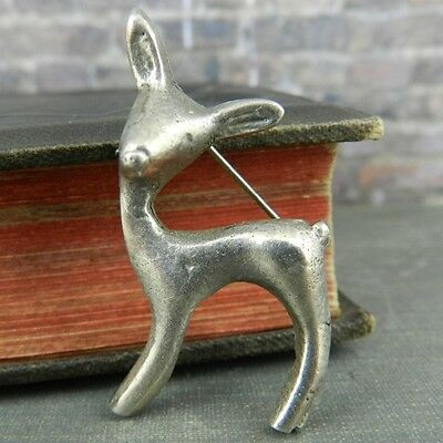 Mexico Silver Deer / Fawn Pin / Brooch