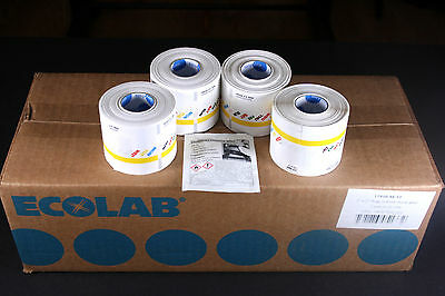 "ECOLAB DuraLabel Daydots Day of the Week 2""x2""x300 Labels 11910-91-11 - 4 ROLLS"