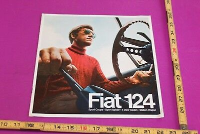 Vintage Fiat 124 Brochure. 8 pgs. Corner bends. See pics for condition