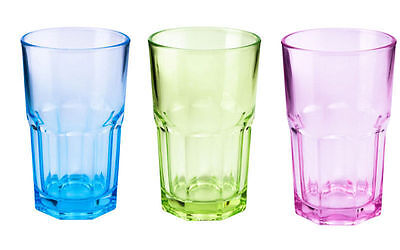 Set of 6 354.9ml Drinking Water Juice Cold Glass Coloured Tumbler Brand New