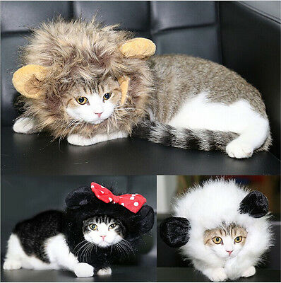 Pet Costume Lion Mane Wig With Ears For Dog Cat Christmas Clothes Fancy Dress