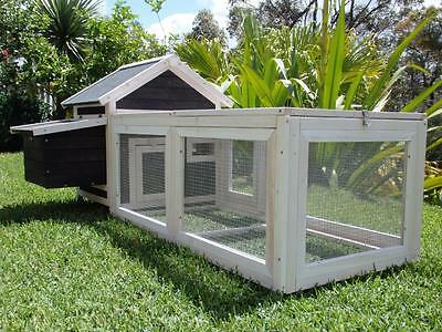 Chicken Coop Somerzby Charcoal Deluxe Cottage Rabbit Hutch Guinea pig cage Run