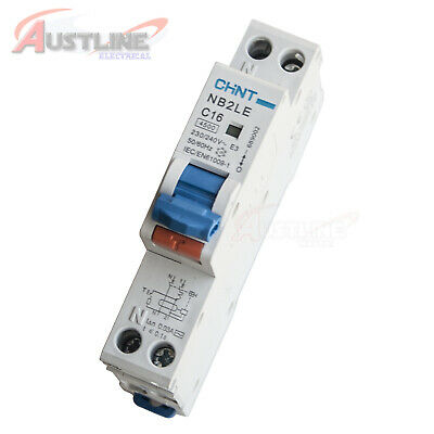 RCD / MCB Safety Switch Circuit Breaker RCBO 1 Pole +N 4.5KA 16A