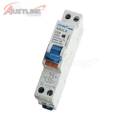 RCD / MCB Safety Switch Circuit Breaker RCBO 1 Pole +N 4.5KA 20A