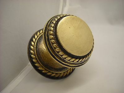Vintage Greece Solid Brass Large Ornate Door Knob Handle Push/Pull #6
