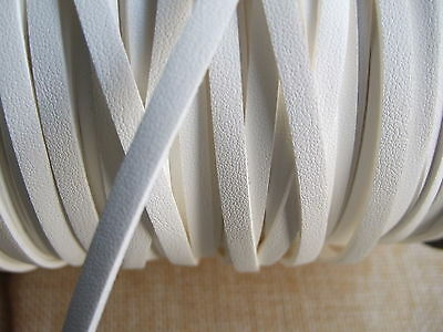 1/3/5M x White 5mm Flat Faux Suede Leather Cord Lace Thong String Jewellery