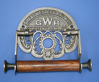 Replica GREAT WESTERN RAILWAY GWR Cast Iron Toilet Roll Holder Antiqued WC