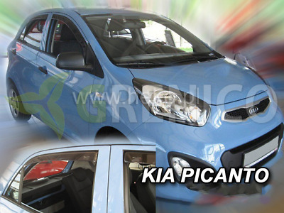 dki20151 kia picanto ii 5 t rer ab 2011 heko windabweiser dunkel 4 tlg satz eur 28 83. Black Bedroom Furniture Sets. Home Design Ideas