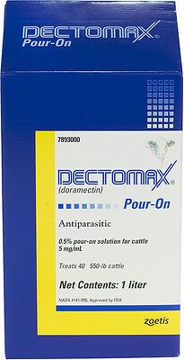 1 Liter Dectomax Pour-On for Cattle