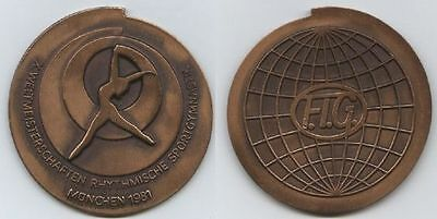 Orig.part.medal  World Rhythmic Gymnastics Championships MÜNCHEN 1981  !  RARITY
