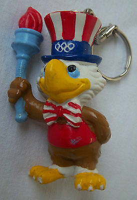 Orig.mascot / keyring  Olympic Games LOS ANGELES 1984 - SAM with Torch  !!  RARE