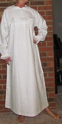 Nightgown Long Soft Flannel Plaids & Lilac Buds  Regular, Petite,Tall