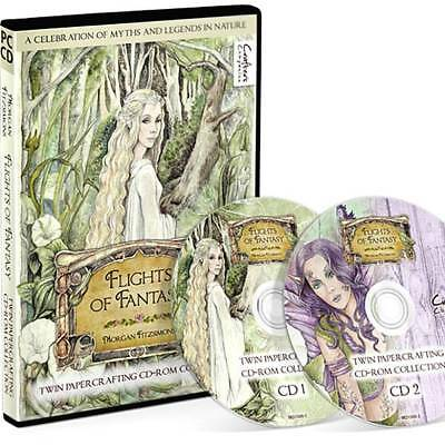 Flights of Fantasy Twin CD-ROM, Papercrafting Morgan Fitzsimons Image Collection