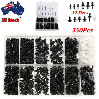350pcs Auto Car Plastic Push Pin Rivet Fasteners Trim Moulding Clip Assortments