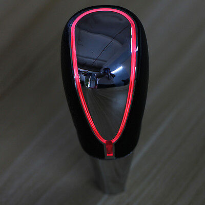 Car Auto Touch Activated Red LED Manual Gear Shift Knob Head Shifter USB Charger