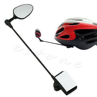 Bike Bicycle Cycling Mirror Rear View Rearview Adjustable 24cm Safety Helmet