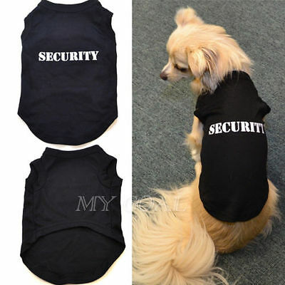 Pet Dog Security Clothes Coat Sweater Hoodie Fleece Sweatshirt Jumper Apparel