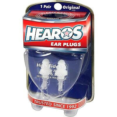 Hearos Ear Plugs High Fidelity Series 1 Pair with Case