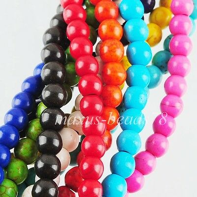 Multicolor Howlite Turquoise Gemstone Round 6mm Loose Beads Spacer 15.5'' MBG176