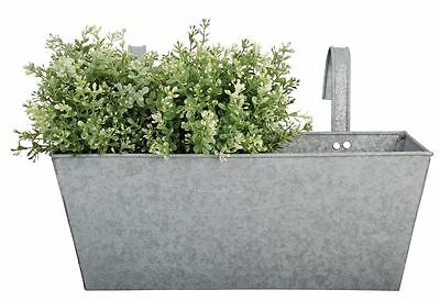 Contemporary Zinc Balcony Planter