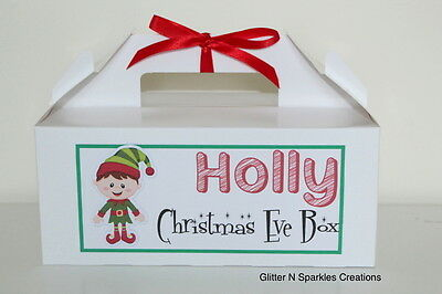 Personalised Christmas Eve Gift Box Present Party Favour Activity Various Design