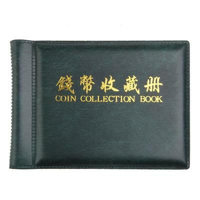 Currency Penny Money Storage Coins Album 60 Holders Pocket Collection Green