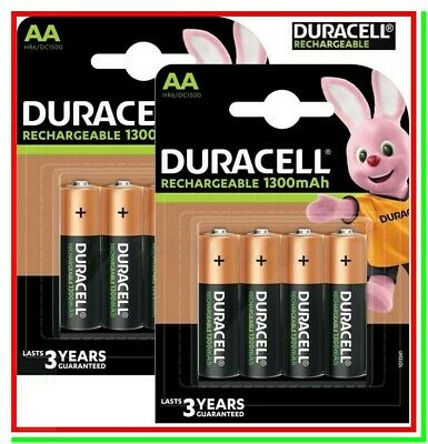 8 DURACELL Ricaricabili AA Pile Batterie STILO VALUE Plus HR6 DC1500 NiMH