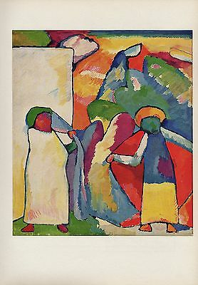 """1958 Vintage KANDINSKY /""""YELLOW RED BLUE/"""" WOW GORGEOUS COLOR Art Print Lithograph"""