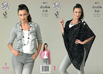 KINGCOLE 4411 DK KNITTING PATTERN  32-42 INCH -not the finished garments