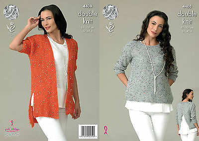 KINGCOLE 4408 DK KNITTING PATTERN  32-42 INCH -not the finished garments