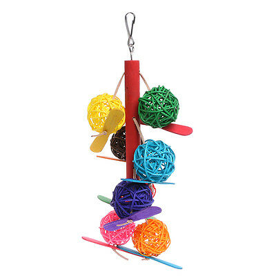Pet Parrot Toy Colorful Bird Bell Ball For Parakeet Cockatiel Chew Fun Cage Toys