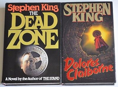 Lot of 2 Stephen King books; The Dead Zone & Dolores Claiborne, VERY GOOD