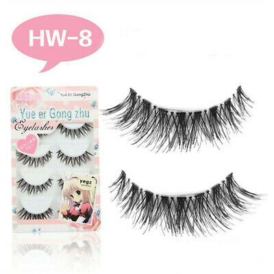 5 Pairs Premium Eyelashes Long Thick Black Handmade Strip False Eye Lashes