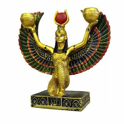 Egyptian Candle Holder Goddess Figurine Egypt Collectible Statue Ornament Gift