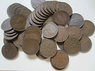 Roll of 1936 Canada Small Cents (50 Coins).
