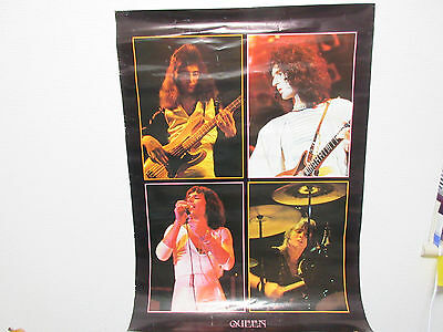 Queen Japan Promo Large Colour Poster by Warner Pioneer 70's ? Freddy Mercury