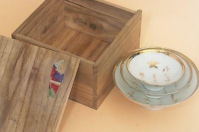 """WWII Japan North China Incident """"北清事変"""" MILITARY CUP 3PCS/SET with box 1900"""