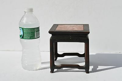 Antique Beautiful Chinese/oriential Miniature Marble Top/ Wood Table/stand Rare