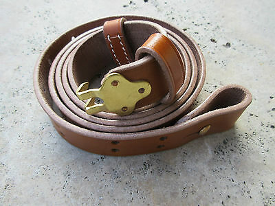 US Army M1887 M1 Garand Trapdoor Springfield Krag Leather Rifle Sling Brass WK1